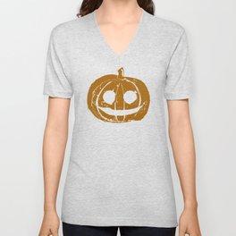 Pumpkin Hand Print Unisex V-Neck