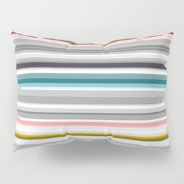 grey and colored stripes Pillow Sham