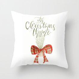 It's Christmas Thyme Throw Pillow
