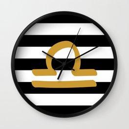 Libra Stripes Wall Clock