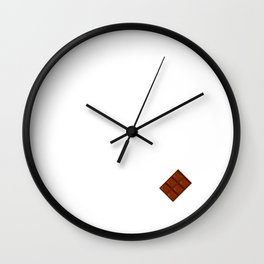 Chocolate If it Makes You Happy Eat It Foodie T-Shirt Wall Clock