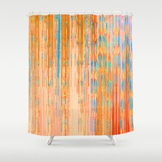 Abstract Linear Architecture Shower Curtain