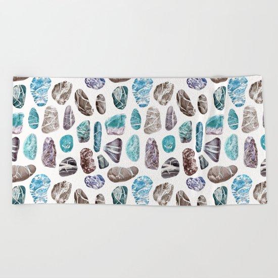 Ocean Sea Stones Pattern Beach Towel
