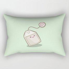 Joyful Tea Bag (Mint Green) Rectangular Pillow