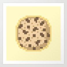 Pixel Cookie Art Print
