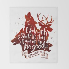 I solemnly swear - white Throw Blanket