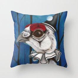 Pierrot the Ptarmigan Throw Pillow