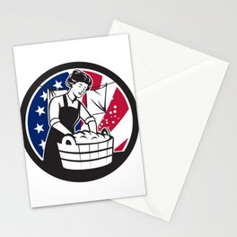 American Laundry USA Flag Icon Stationery Cards