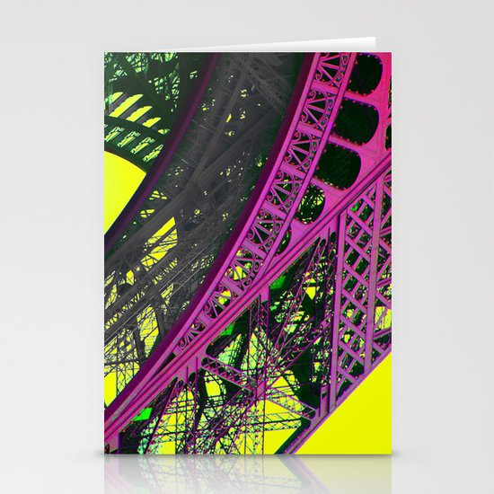 purple paris Stationery Cards