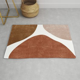 Terracotta Art Print 1 - Terracotta Abstract - Modern, Minimal, Contemporary Abstract - Brown, Beige Rug