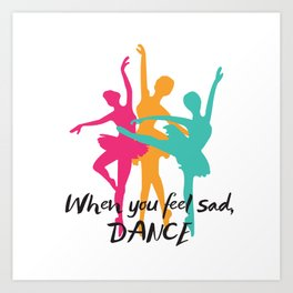 Dancer , ballet , ballerina , Art Print
