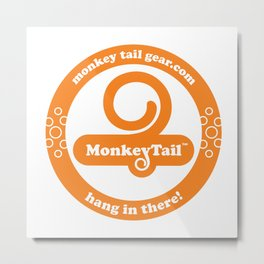 Monkey Tail Gear Logo - 002 Orange Metal Print