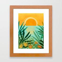Peaceful Tropics / Sunset Landscape Framed Art Print
