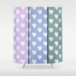 3x4 pastel Amor Shower Curtain