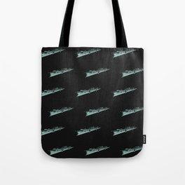 Flutes Pattern Stamp Tote Bag