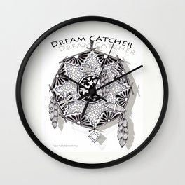 Zentangle Dreamcatcher Wall Clock