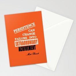 Matt Biondi swimmer Inspirational Typography Quote Stationery Cards