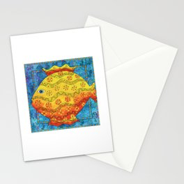 Patterned Fish Stationery Cards