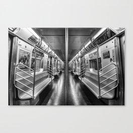 NYC subway N train Canvas Print