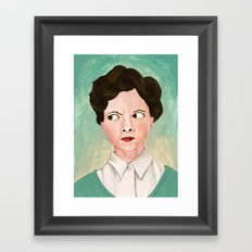 Miss Unbelievably Angry Framed Art Print