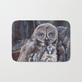 Wood  -  Owls Bath Mat