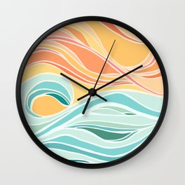 Sea and Sky II Wall Clock