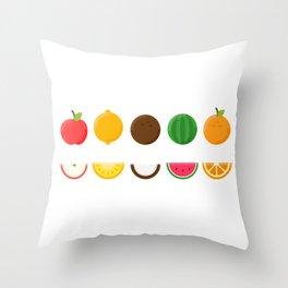 Sliced Fresh Fruit Throw Pillow