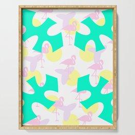 Flamingo vibrant motif Serving Tray