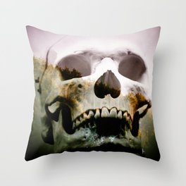 Horror in the woods Throw Pillow
