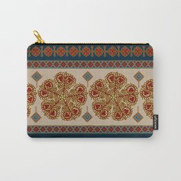 Flower pattern #0243 Carry-All Pouch