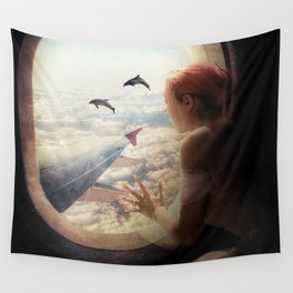 On My Way to Paris Wall Tapestry