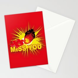 missing part of my heart Stationery Cards