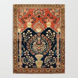 Kashan Poshti  Antique Central Persian Rug Print Poster