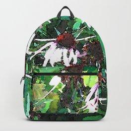 Watercolor Echinacea Backpack
