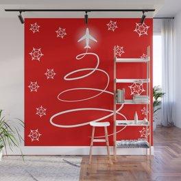 Christmas Planes Wall Mural