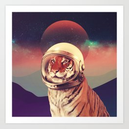 Cosmos Cat Art Print