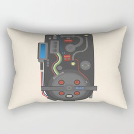 Ghostubsters poster, proton pack, BIll Murray, Dan Aykroyd, Harold Ramis, Peter Venkman, Egon Spengler, 80s movie Rectangular Pillow