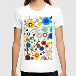 Rupydetequila whimsical floral art 2018 T-shirt