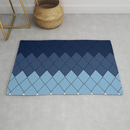 Blue rhombs Rug