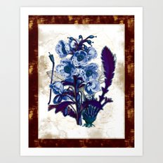 Black Light Botany Art Print