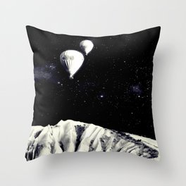Silently They Left, Ascending Towards The Heavens Throw Pillow