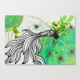 Beauty and the Death Machine Canvas Print
