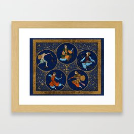 Amino Acid Horoscope Framed Art Print