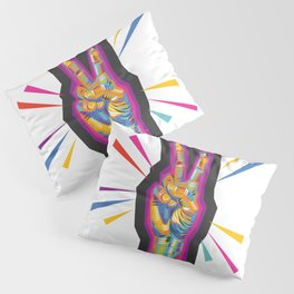 Raise a Peace Sign (Purple Spirit) Pillow Sham
