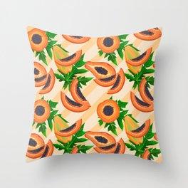 Papaya Party Throw Pillow