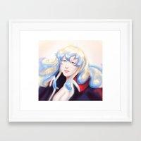 gurren lagann Framed Art Prints featuring Nia Teppelin - Gurren Lagann  by Chooone