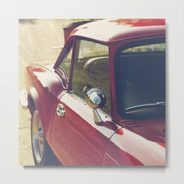 Sportscar, supercar, windscreen details, red triumph spitfire, english car Metal Print
