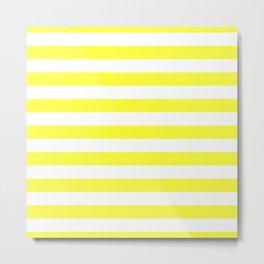 Florida Sunshine Yellow Horizontal Tent Stripes Florida Colors of the Sunshine State Metal Print