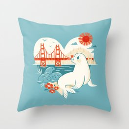 I Heart San Francisco Throw Pillow