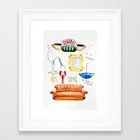 friends tv Framed Art Prints featuring friends by Huntleigh